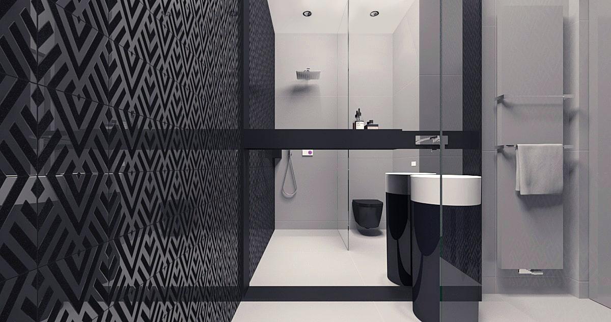 Projekt łazienki w domu minimalistycznym