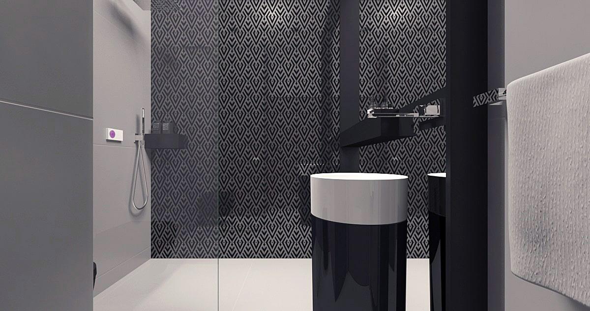 Łazienka w domu w stylu minimalistycznym