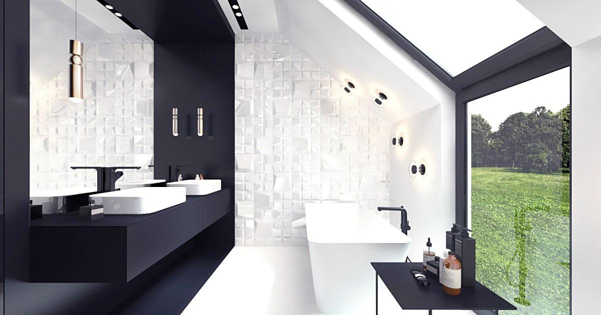 Dom minimalistyczny projekt w nowoczesnym stylu