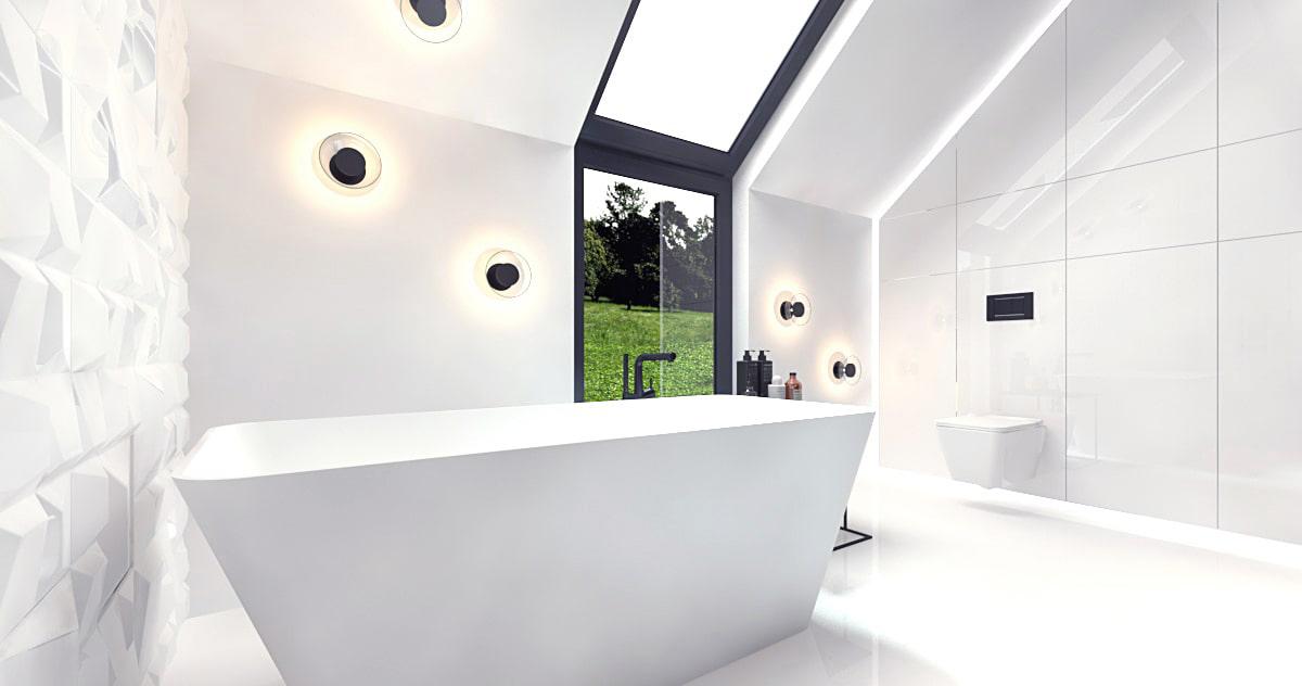 Łazienka w minimalistycznym domu