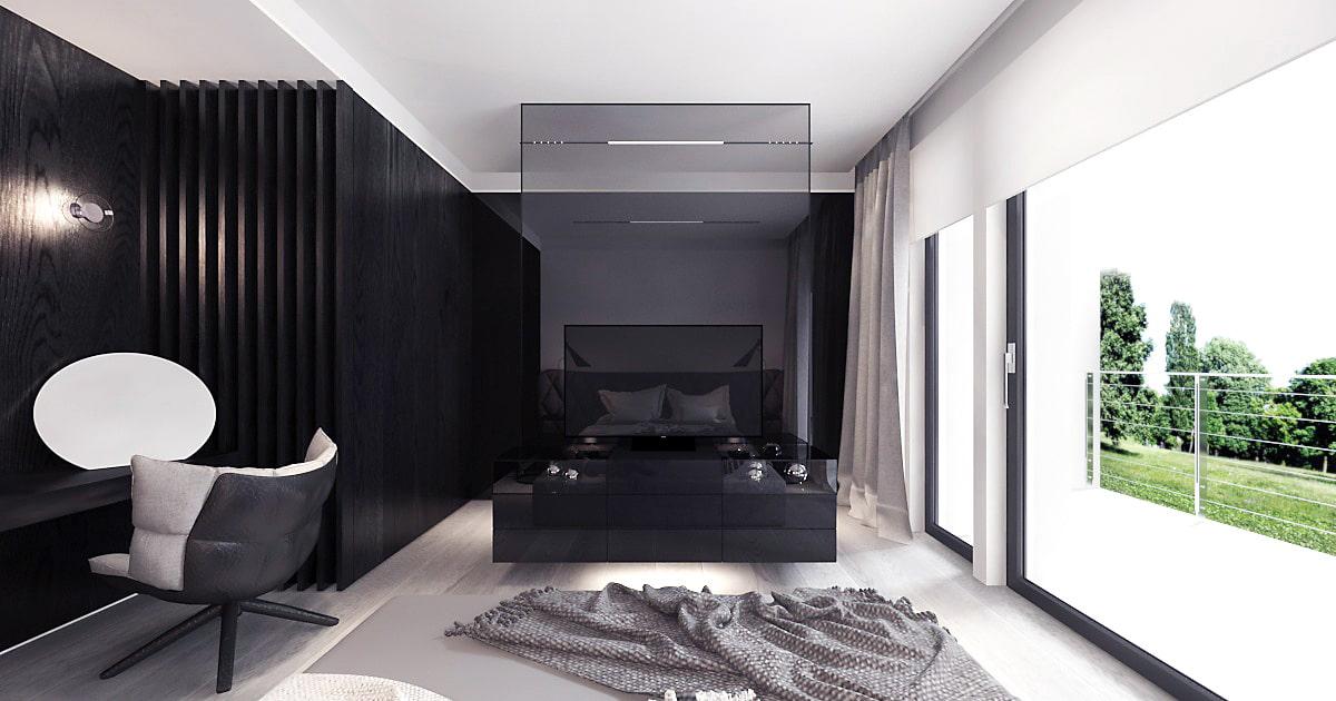 Dom minimalistyczny projekt
