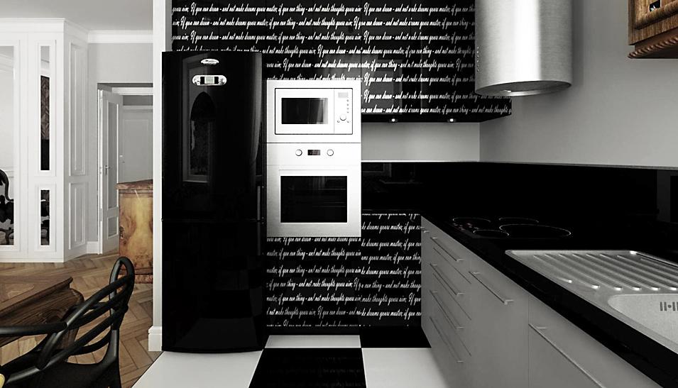 Kuchnia w eklektycznym mieszkaniu