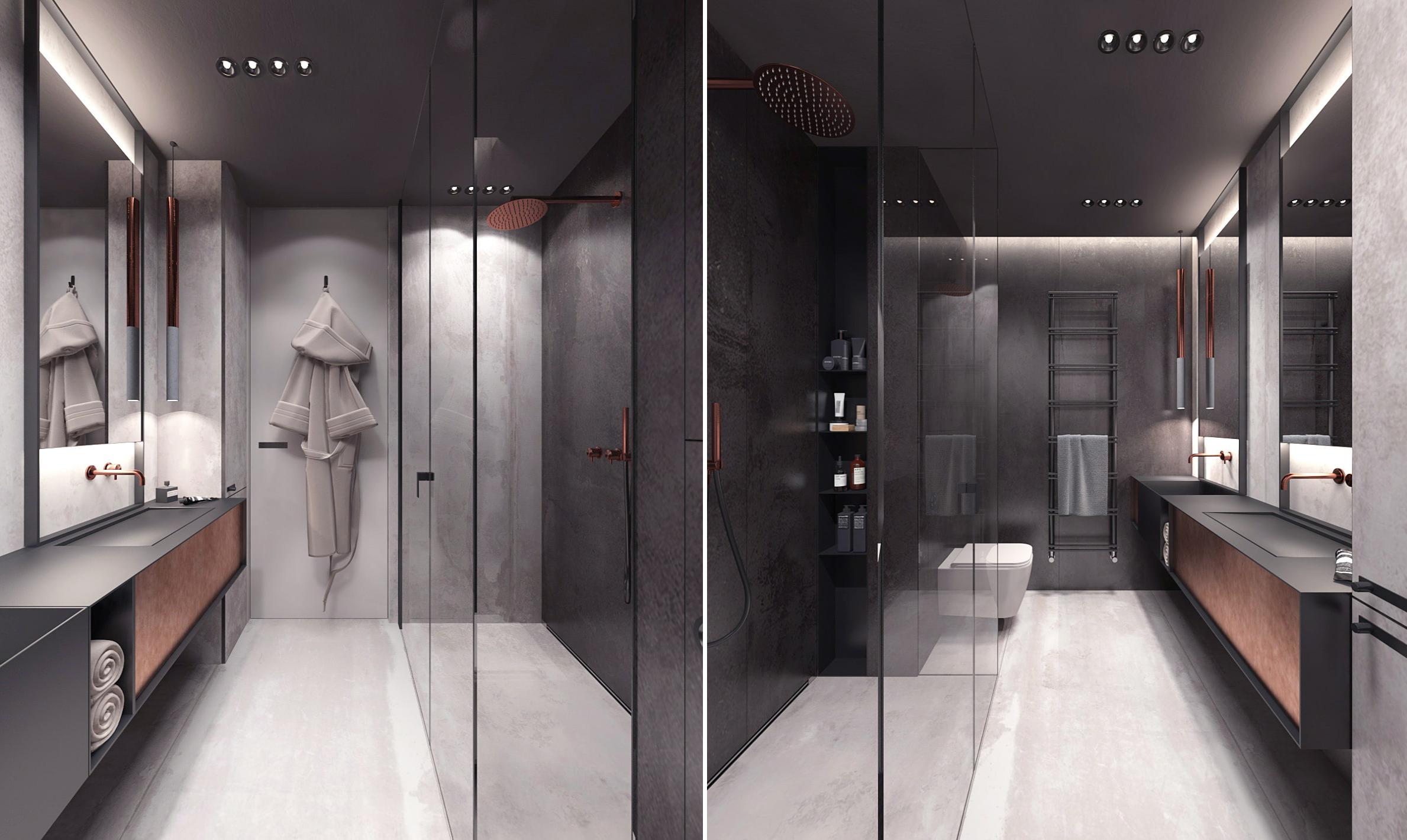 Projekt sypialni i łazienki