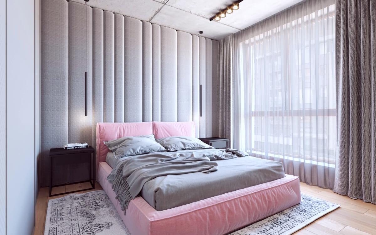 Kompleksowy projekt sypialni z łazienką