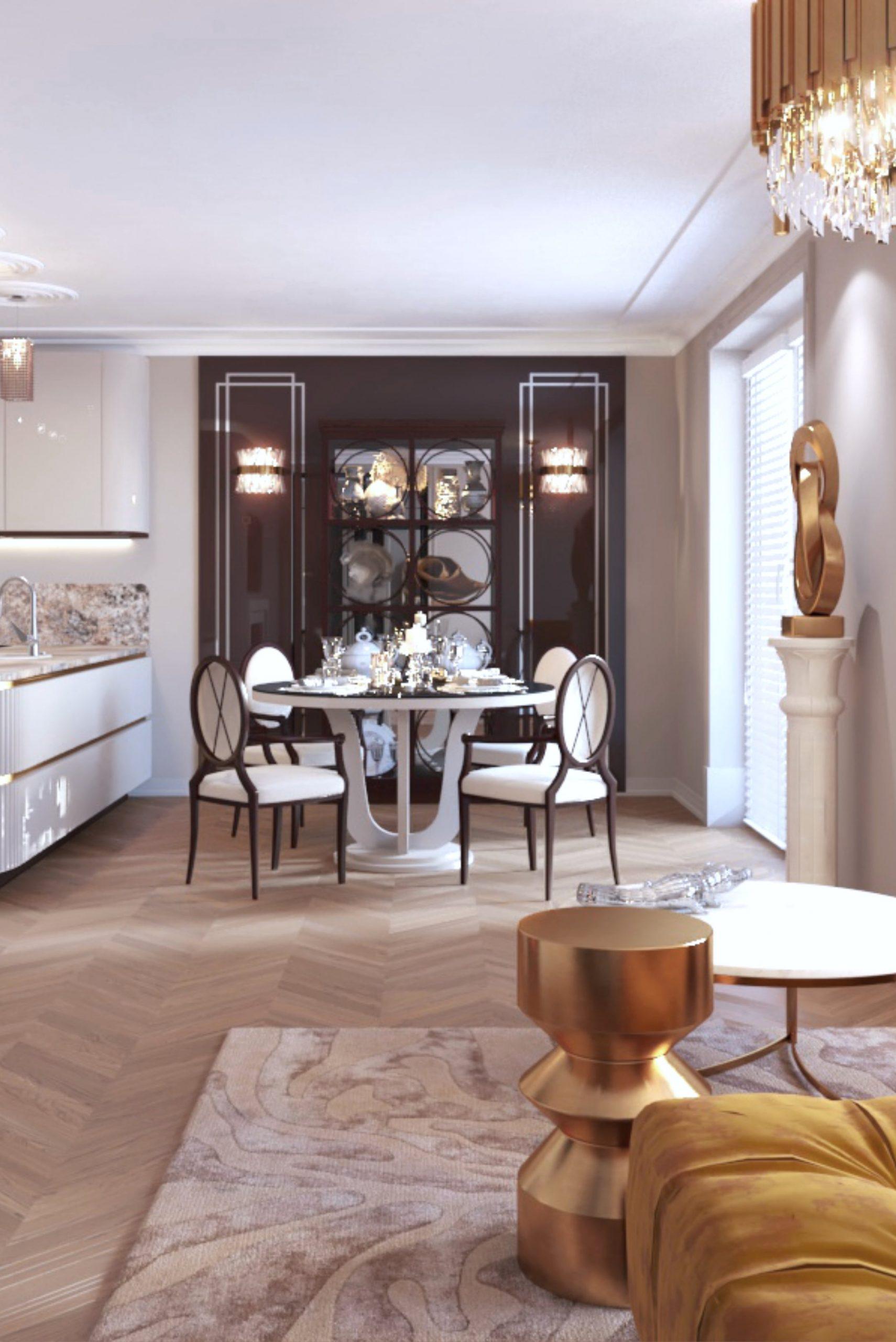 Aranżacja stylowego salonu - Projekt wykonany przez architekta wnętrz z Krakowa