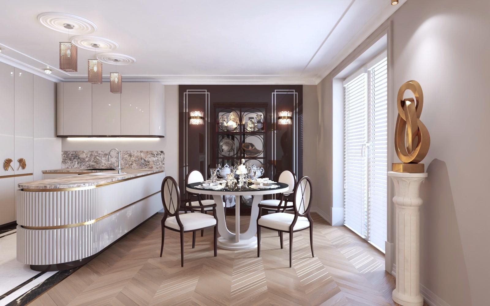 Jasne i minimalistyczne wnętrze zaprojektowane przez architektów z Krakowa.